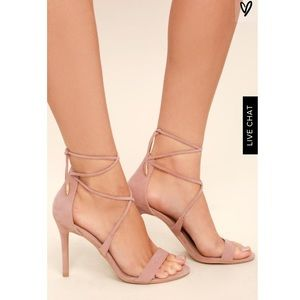 NWT Dusty rose suede lace up heels